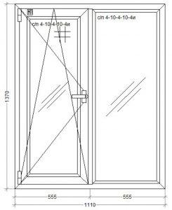 окно WDS-500 1110 x 1370