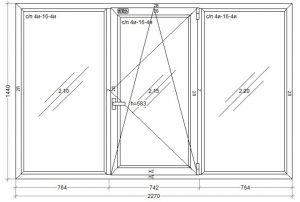 окно Kommerling-58 2270 x 1440