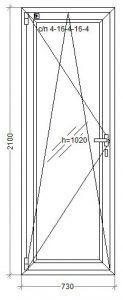 Двери WDS-8 -lam 730x2100 1
