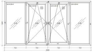 окно WDS-400 2890 x 1490