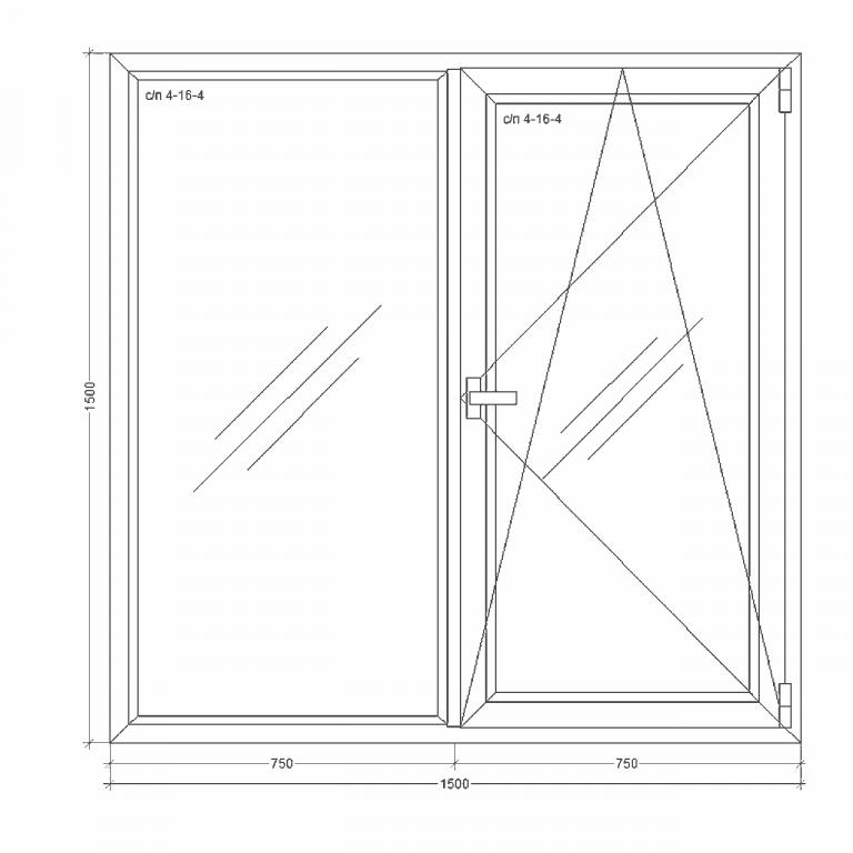 Окно-Millenium-1500x1500x24