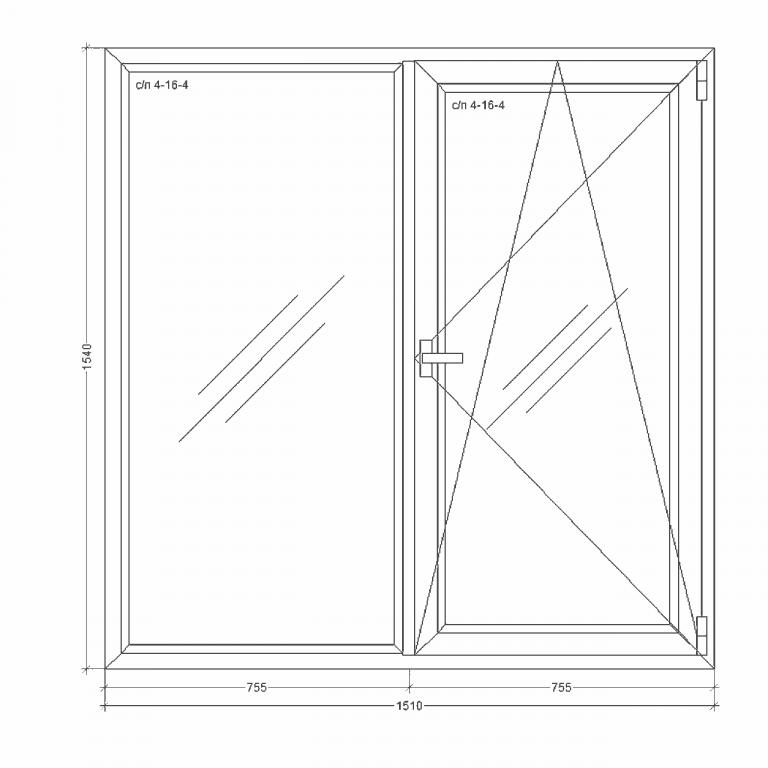 Окно-Millenium-1510x1540x24