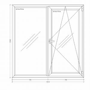 Окно-Millenium-1510x1540xi24i