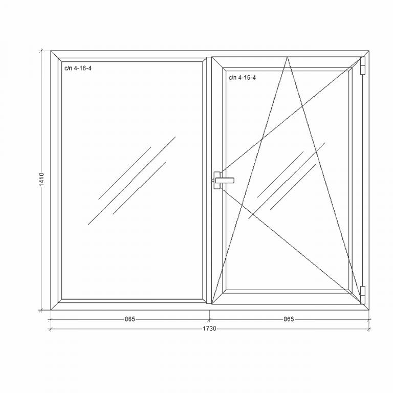 Окно-Millenium-1730x1410x24