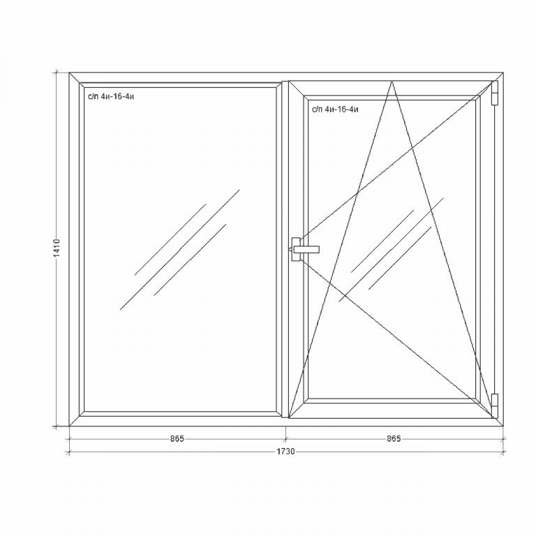 Окно-Millenium-1730x1410xi24i