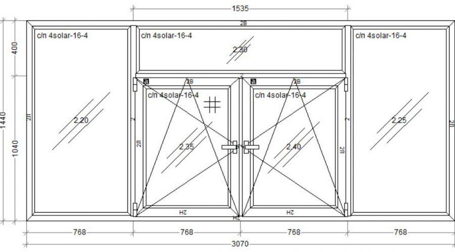 окно WDS OLIMPIA 3070x1440