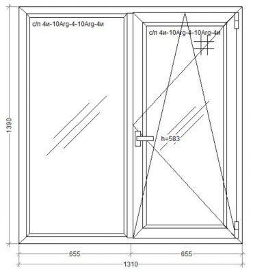 окно WDS-500 1310 x 1390