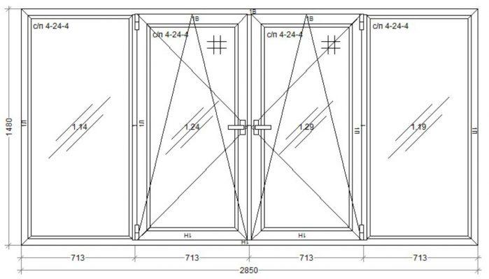 окно WDS-400 2850 x 1480