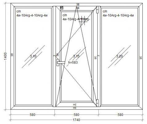 окно Kommerling-70 GT plus 1740 x 1400