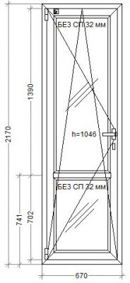 Дверь WDS-7 670x2170