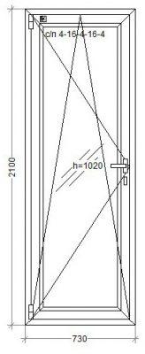 Двери WDS-8 -lam 730x2100